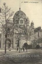 jud001397 - Dijon - La Synagogue, Judaic Judaica, Postcard Postcards