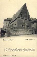 jud001398 - Gruss aus Prag Synagogue, Judaic Judaica, Postcard Postcards