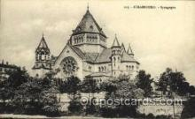 jud001404 - Strasbourg - Synagogue, Judaic Judaica, Postcard Postcards
