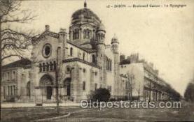 jud001406 - Dijon - Boulevard Carnot - La Synagogue, Judaic Judaica, Postcard Postcards