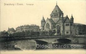 jud001408 - Strassburg I. Elsass Synagoge, Judaic Judaica, Postcard Postcards