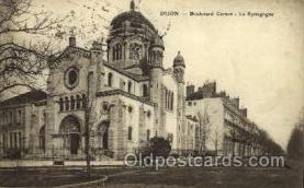 jud001414 - Dijon -Boulevard Carnot, La Synagogue, Judaic Judaica, Postcard Postcards