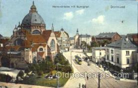 jud001417 - Hansastrasse Mit Synagoge, Dortmund Judaic, Judaica Postcard Postcards