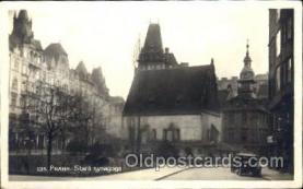 jud001420 - Praha - Stara Synagoga Judaic, Judaica Postcard Postcards