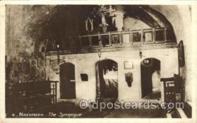 jud001424 - Nazareth The Synagogue Judaic, Judaica Postcard Postcards