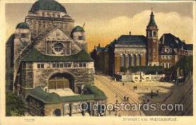 jud001425 - Essen, Synagoge und Friedenskirche Judaic, Judaica Postcard Postcards