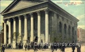 jud001429 - Temple Isreal - Jewish Synagogue, St. Louis, Missouri, MO USA Judaic, Judaica Postcard Postcards