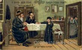 jud001430 - A Happy New Year Judaic, Judaica Postcard Postcards