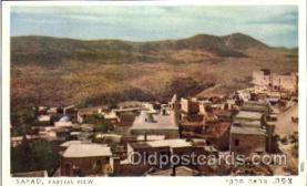 jud001441 - Safad, Rartial View Judaic, Judaica Postcard Postcards