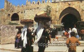 jud001445 - Jerusalem, Damascus Gate Judaic, Judaica Postcard Postcards
