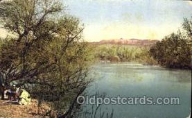 jud001448 - The River Jordan - Bapticm Place Judaic, Judaica Postcard Postcards