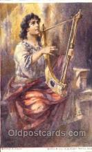 jud001469 - David Plays the Harp Before Saul Judaic, Judaica Postcard Postcards
