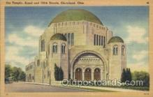 jud001554 - The Temple Ansel and 105th Streets, Cleveland, Ohio, USA Judaic, Judaica Postcard Postcards
