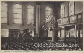 jud001555 - Interieur Portugeesche Synagoge, Amsterdam Judaic, Judaica Postcard Postcards