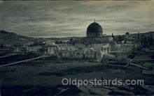 jud001602 - The Mosque of Omarand the Mountains of Moab Judaic, Judaica Postcard Postcards