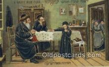 jud001638 - A Happy New Year Judaic Postcard Post Cards Old Vintage Antique