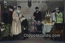 jud001648 - A Happy New Year Judaic Postcard Post Cards Old Vintage Antique