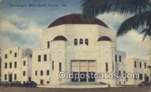 jud001663 - Synagogue Miami Beach, FL, USA Postcard Post Cards Old Vintage Antique