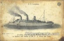 jud001673 - SSS Leviathan, Jewish Welfare Board  Postcard Post Cards Old Vintage Antique