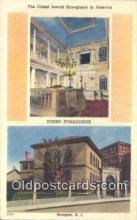 jud001684 - Oldest Jewish Synagogue, Touro Synagogue Newport, RI, USA Postcard Post Cards Old Vintage Antique
