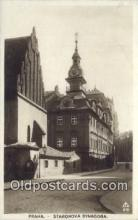 jud001686 - Staronova Synagoga Praha Postcard Post Cards Old Vintage Antique