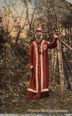 kkk000015 - Klu Klux Clan Postcard & Original Ku Klux Klan Costume 1890u0027s Costume Found in house in ...