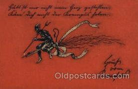 kra000255 - Krampus, Devil, Postcards Post Card