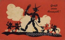 kra000256 - Krampus, Devil, Postcards Post Card