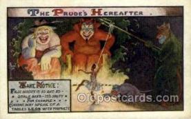kra000273 - The Prude Hereafter Krampus Old Vintage Antique Post Card Postcards