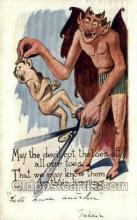 kra000280 - Krampus Old Vintage Antique Post Card Postcards