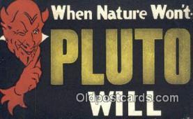 kra000286 - Pluto Krampus Postcard Post Card Old Vintage Antique