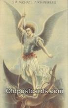 kra000287 - Michael Archangelus Krampus Postcard Post Card Old Vintage Antique