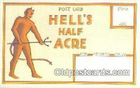 kra000289 - Hells Half Acre Krampus Postcard Post Card Old Vintage Antique