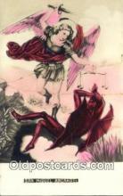 kra000292 - San Miguel Arcangel Krampus Postcard Post Card Old Vintage Antique