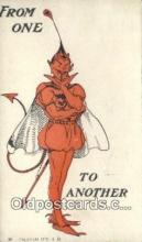 kra000295 - Krampus From one to Another Postcard Post Card, Carte Postale, Cartolina Postale, Tarjets Postal,  Old Vintage Antique