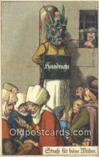 kra000298 - Krampus housdrache Postcard Post Card, Carte Postale, Cartolina Postale, Tarjets Postal,  Old Vintage Antique