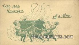 kra000306 - Krampus We are Having a ... of a time Postcard Post Card, Carte Postale, Cartolina Postale, Tarjets Postal,  Old Vintage Antique