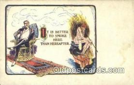 kra000310 - Krampus Better to Smoke here than hereafter Postcard Post Card, Carte Postale, Cartolina Postale, Tarjets Postal,  Old Vintage Antique