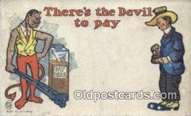 kra000311 - Krampus There's the Devil to Pay Postcard Post Card, Carte Postale, Cartolina Postale, Tarjets Postal,  Old Vintage Antique