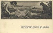 kra000313 - Krampus Death of Procris Postcard Post Card, Carte Postale, Cartolina Postale, Tarjets Postal,  Old Vintage Antique