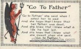 kra000315 - Krampus Go to Father Postcard Post Card, Carte Postale, Cartolina Postale, Tarjets Postal,  Old Vintage Antique