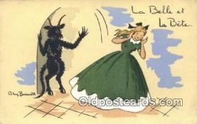 kra000318 - Krampus La Belle et La Bete Postcard Post Card, Carte Postale, Cartolina Postale, Tarjets Postal,  Old Vintage Antique