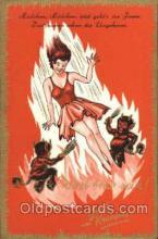 kra100056 - Krampus, Devil, Postcard Postcards