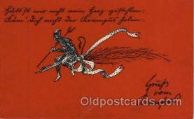kra100091 - Krampus, Devil, Postcard Postcards