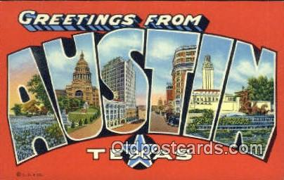 Austin, Texas, USA Postcard Post Card