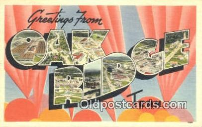 Oak Ridge, Tennessee, USA Postcard Post Card