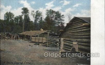 A Maine Logging Camp, USA