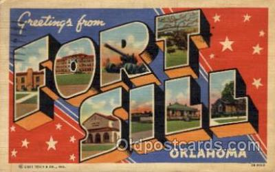 LLM001005 - Fort Sill, Oklahoma Large Letter Military Post Card Postcards