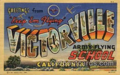 LLM001012 - Victorville, California Army Flying School Large Letter Military Post Card Postcards