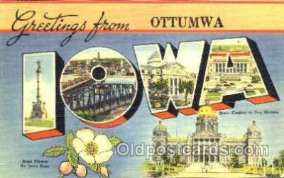 LLS001101 - Large Letter State Postcard Postcards Iowa